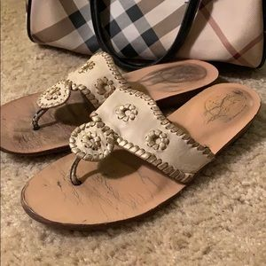 Jack Rodgers Gold Sandals